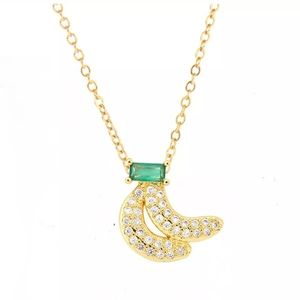 New crystal dainty bananas necklace